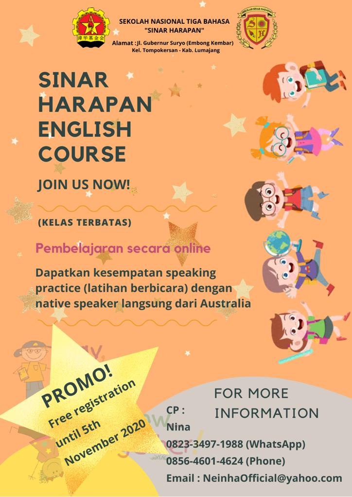 SSH English Course is on November