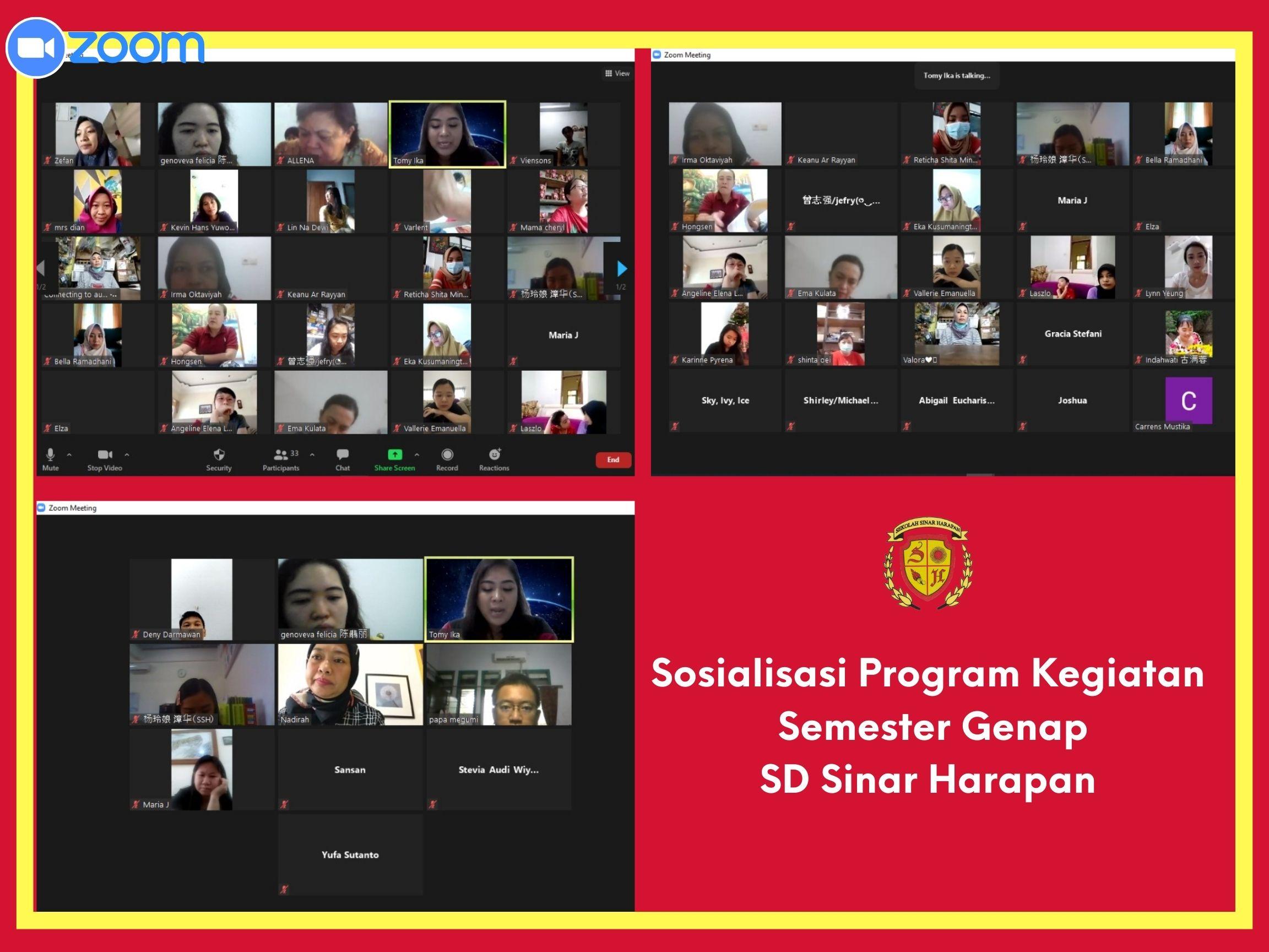 Sosialisasi Program Kegiatan Semester Genap oleh SD Sinar Harapan